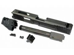 SAT CNC Steel Lok Style Tactical Slide Set w/ Outer Barrel & Comp for Marui G17 GBB Series